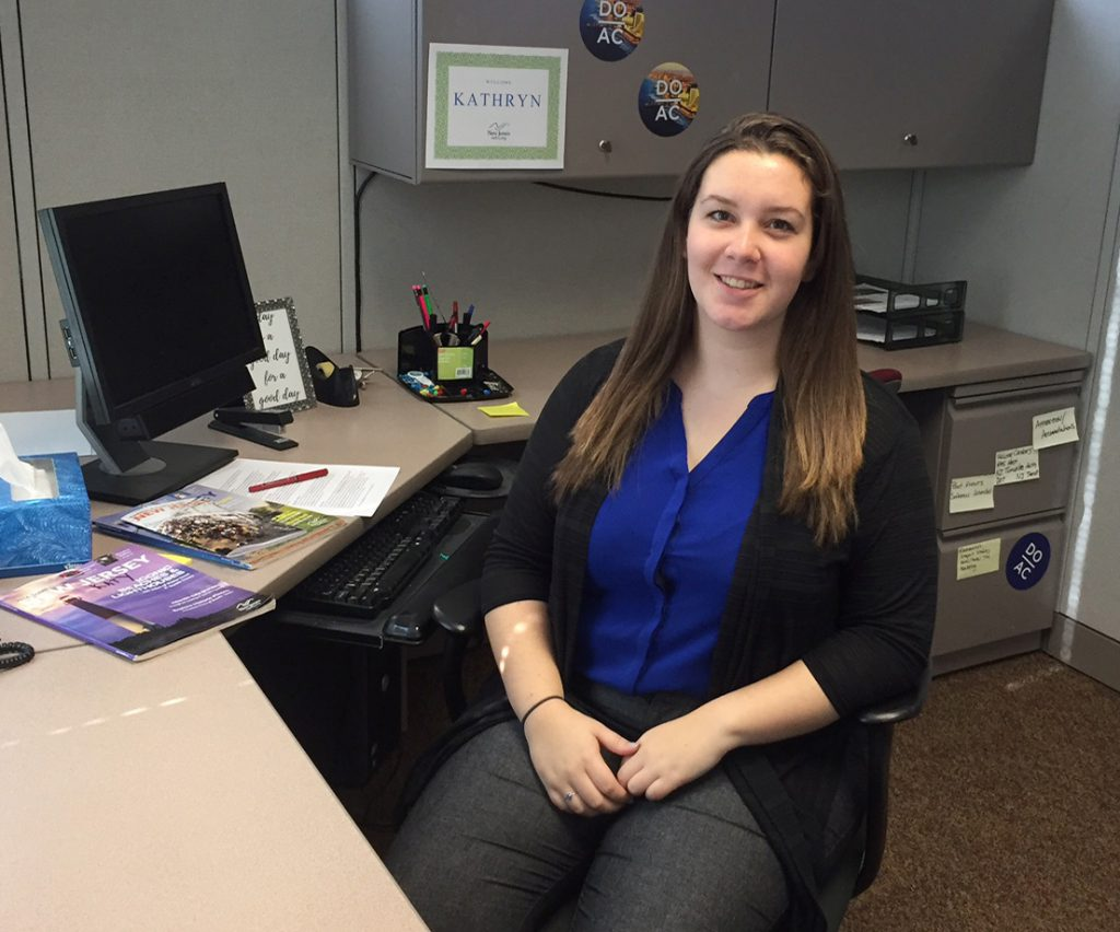 Senior English writing major Kathryn Weniger currently interns with the New Jersey Department of State in the division of Travel and Tourism.