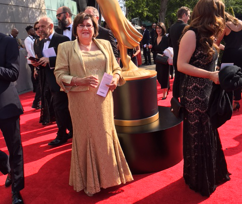 Photo of Starstruck professor attends  annual Emmy Awards in LA