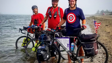 Photo of Superheroes on wheels: Alum bikes across the county for cancer research
