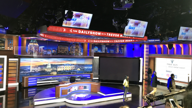 Photo of Backstage at The Daily Show: Students talk with TV personality