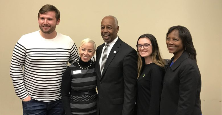 Photo of Trenton Mayor visits Rider, shares importance of higher education