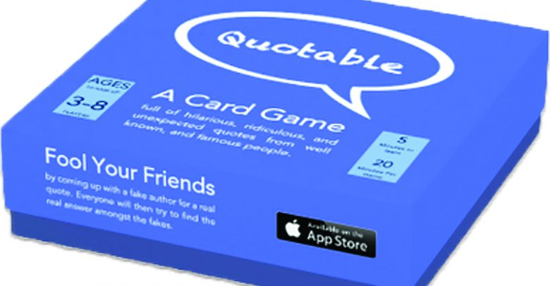 Photo of Who said that? Alumnus develops his own card game
