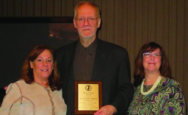 Photo of Professor recognized for education award