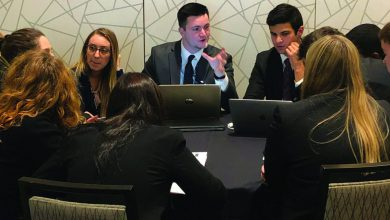 Photo of Rider's Model UN team attends conference in Washington D.C.