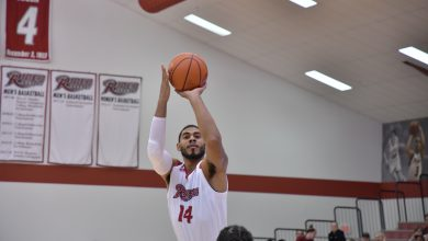 Photo of Vaughn's double-double pushes Rider past Manhattan