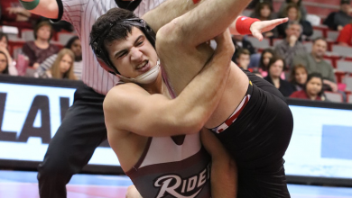 Photo of Rider wrestlers earn victories at NCAA Championships