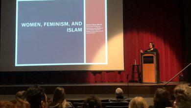 Photo of Guest speaker embraces Islamic feminism