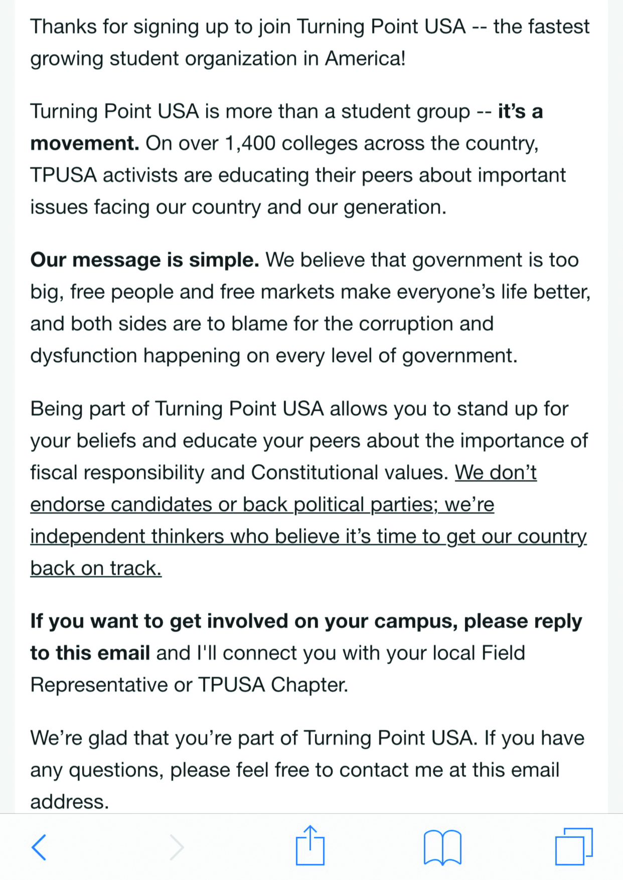Students receive unwanted emails from TPUSA – The Rider News
