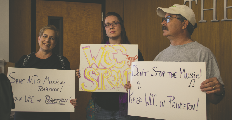 Photo of Westminster protestors plead their case to New Jersey governor
