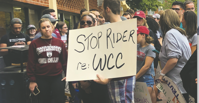 Photo of WCC students show resolve in the face of consolidation