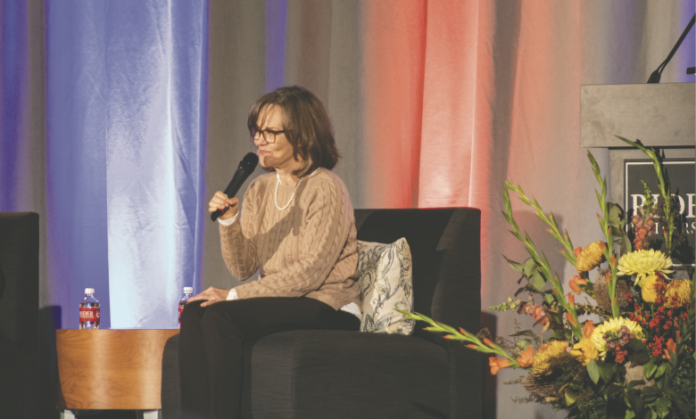 Photo of Actress Sally Field visits Rider, talks literary memoir about her life