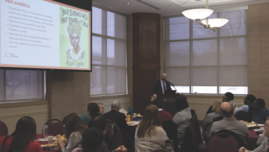 Photo of Rider keynote event opens dialogue about free speech