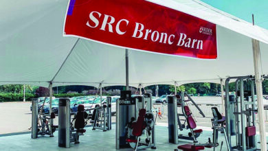 Photo of Broncs get buff while staying safe at the SRC Bronc Barn