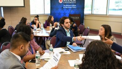 Photo of Rider students talk political involvement and interning during a pandemic