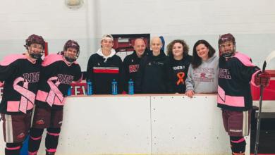 Photo of Rider ice hockey inspired by Zach Steward's cancer fight